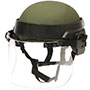 "DK7 Riot Face Shield, 6 x 15 1/2 x 0.250"", Designed to Fit ACH, MICH, and PASGT Helmets (DK7-X.250AF)"