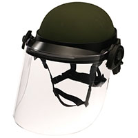"DK6 Riot Face Shield, 8 x 16 1/2 x 0.150"", Designed to Fit ACH, MICH, and PASGT Helmets (DK6-H.150)"