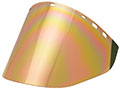 "10"" x 20"" x 0.060"" Gold/Green Metalized Face Shield (IM22-XGHC6FD)"