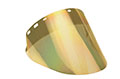 "10"" x 20"" x 0.060"" Gold/Clear Metalized Face Shield with 2 1/2"" Gradient (S42-GHC6FGRAD2)"